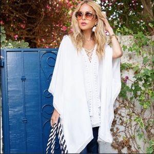 Bindya White Lace Tunic Coverup